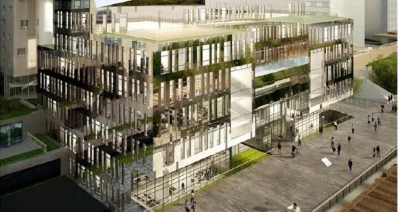 Ieseg nouveau campus la d fense pour 2017 eur ka for Orientation batiment