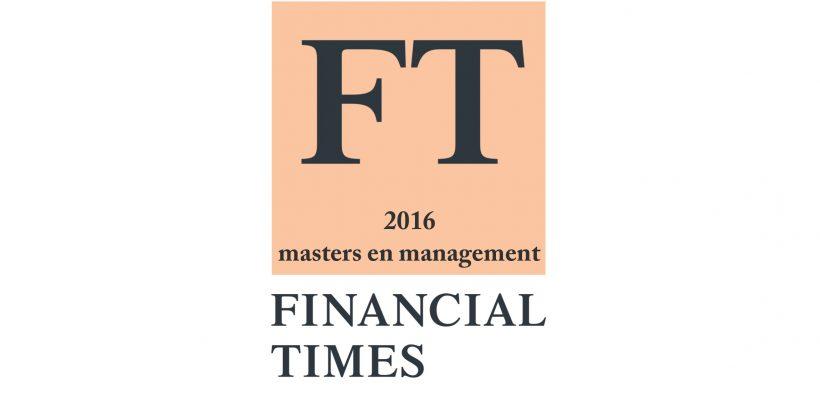Classement Financial times 2016 des masters en management